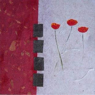 Art: Collaged poppies 5 by Artist Eridanus Sellen