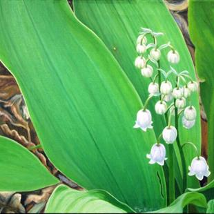 Art: Lily of the Valley and Spider by Artist Harlan