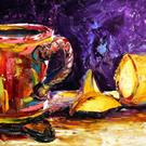 Art: Cup and Lemon by Artist Laurie Justus Pace