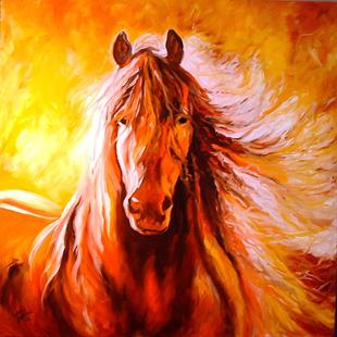 Art: ABSTRACT STALLION by Artist Marcia Baldwin