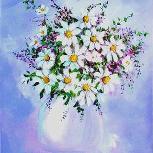 Art: Daisies by Artist Diane Funderburg Deam