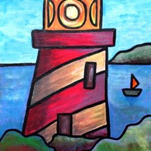 Art: Lighthouse by Artist Amanda Hone