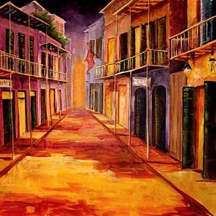 Art: French Quarter - Early Evening - SOLD by Artist Diane Millsap