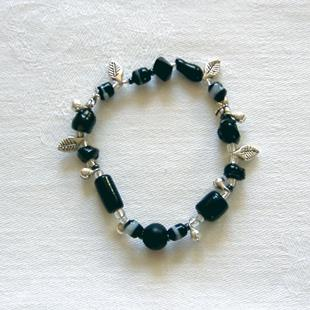 Art: Black and Silver Bracelet by Artist Chris Jeanguenat