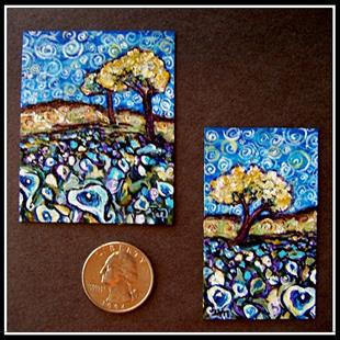 Art: Van Gogh Spring ~ Miniature 1:12 (Up for Auction at eBay) by Artist Dana Marie