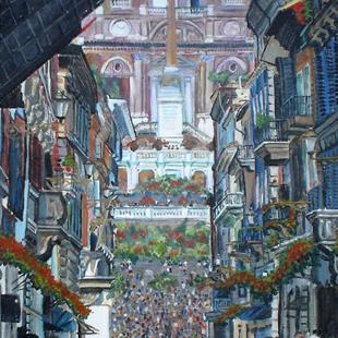 Art: Spanish Steps by Artist Lisa Thornton Whittaker