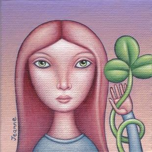 Art: Shamrock Girl by Artist Valerie Jeanne