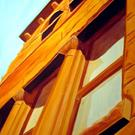 Art: Window 3 - Old Orange County Courthouse by Artist Ben Walker