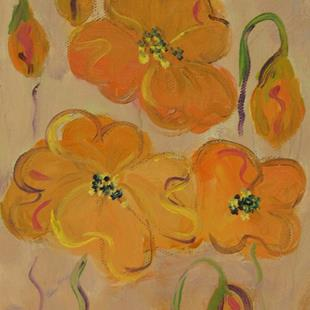 Art: Small Poppies by Artist Delilah Smith