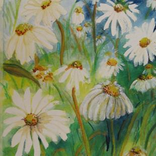 Art: Daisy Field SOLD by Artist Delilah Smith