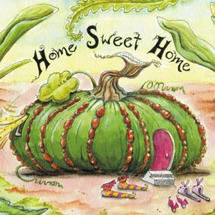 Art: Fairy Fairylet House #2: Home Sweet Home by Artist Ann Murray