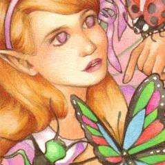 Art: Bugs are our Friends ACEO by Artist Carmen Medlin