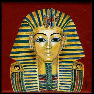 Art: King Tut's Mask by Artist Sara Field