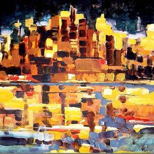 Art: Chicago City Lights by Artist Diane Millsap