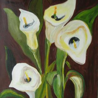 Art: Calla Lilies, SOLD by Artist Delilah Smith