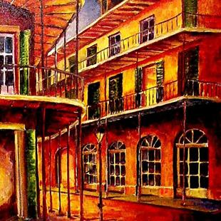 Art: French Quarter Night - SOLD by Artist Diane Millsap