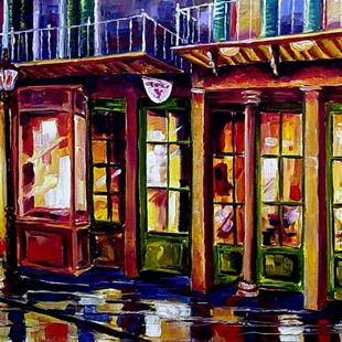 Art: Rainy Night on Bourbon Street -SOLD by Artist Diane Millsap