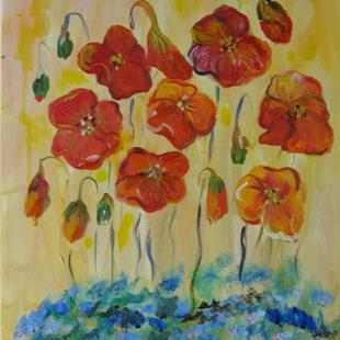 Art: Poppies Bloom-sold by Artist Delilah Smith