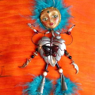 Art: SOLD - Luna Mare, Nymph of Fertility, OOAK Insect Doll by Artist Shawn Marie Hardy