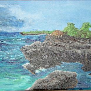 Art: Little Bay Cliffs by Artist Donna Gill