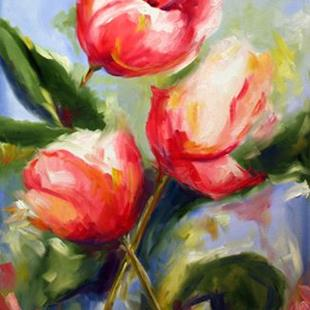 Art: Spring Tulips by Artist Laurie Justus Pace