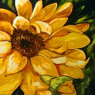 Art: SUNFLOWER OF TUSCANY 2 by Artist Marcia Baldwin