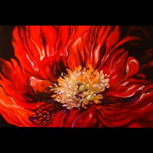 Art: RED POPPY IN SHADOWS by Artist Marcia Baldwin