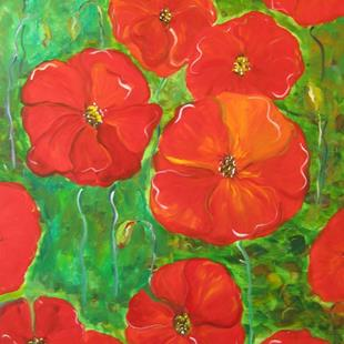 Art: Poppy Field-sold by Artist Delilah Smith