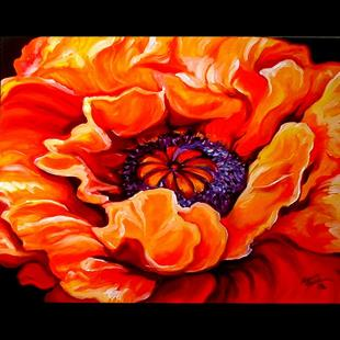 Art: POPPY BLAZE by Artist Marcia Baldwin