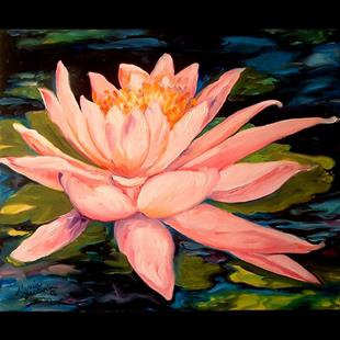 Art: WATERLILY by Artist Marcia Baldwin