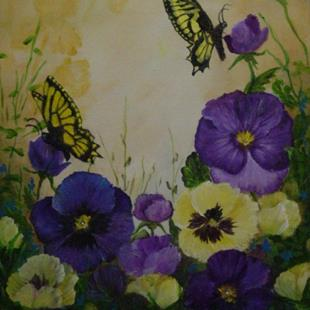Art: Pansy Power by Artist Johnye Cruse