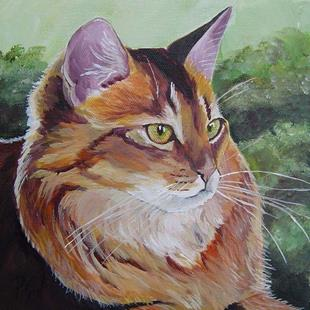 Art: Maine Coon Profile by Artist Padgett Mason