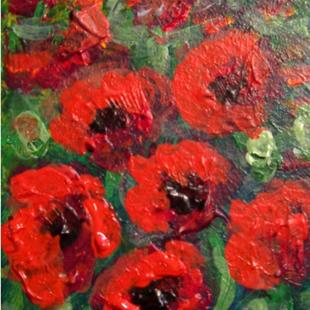 Art: Poppies SOLD by Artist Terri L West
