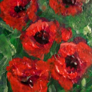 Art: Five Poppies SOLD by Artist Terri L West