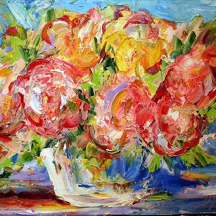 Art: Rose Bowl by Artist Laurie Justus Pace