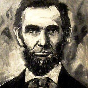 Art: Abraham Lincoln - Portrait by Artist Diane Millsap