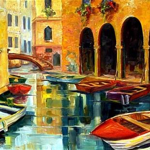 Art: Canal in Venice by Artist Diane Millsap