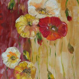 Art: Two Toned Poppies by Artist Delilah Smith