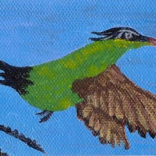 Art: Jamaican Streamer Tailed Hummingbird by Artist Donna Gill