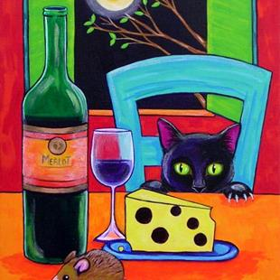Art: Wine and Cheese by Artist Lisa M. Nelson