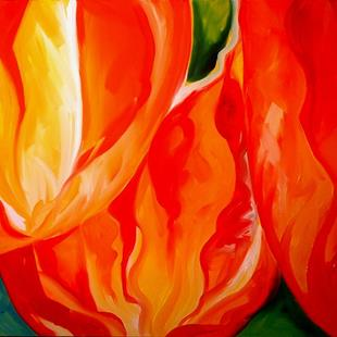 Art: TULIP ABSTRACT by Artist Marcia Baldwin