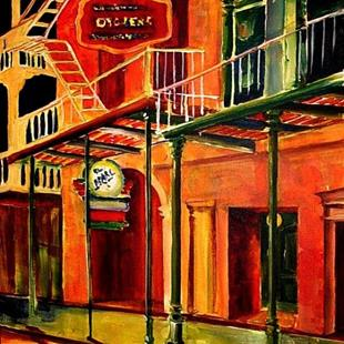 Art: Oysters in the French Quarter - SOLD by Artist Diane Millsap