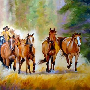 Art: THE ROUNDUP by Artist Marcia Baldwin
