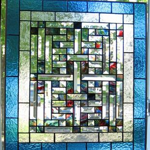 Art: Woven Stained Glass Window by Artist Phil Petersen
