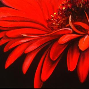 Art: DAISY RED by Artist Marcia Baldwin