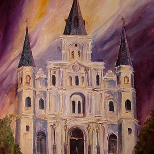 Art: St. Louis Cathedral - New Orleans - SOLD by Artist Diane Millsap