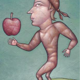 Art: Johnny Appleseed by Artist Valerie Jeanne