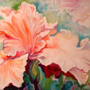 Art: PALE PINK IRISES by Artist Marcia Baldwin