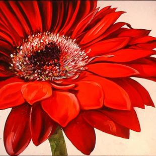 Art: RED DAISY IV by Artist Marcia Baldwin