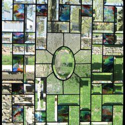 Art: Dragonfly Beveled Stained Glass Window  by Artist Phil Petersen